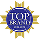 top brand award logo accurate small