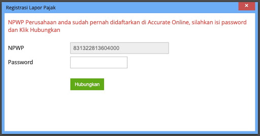 registrasi sudah terdaftar di PJAP