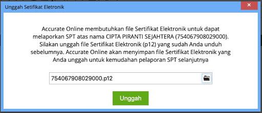 unggah sertifikat elektronik