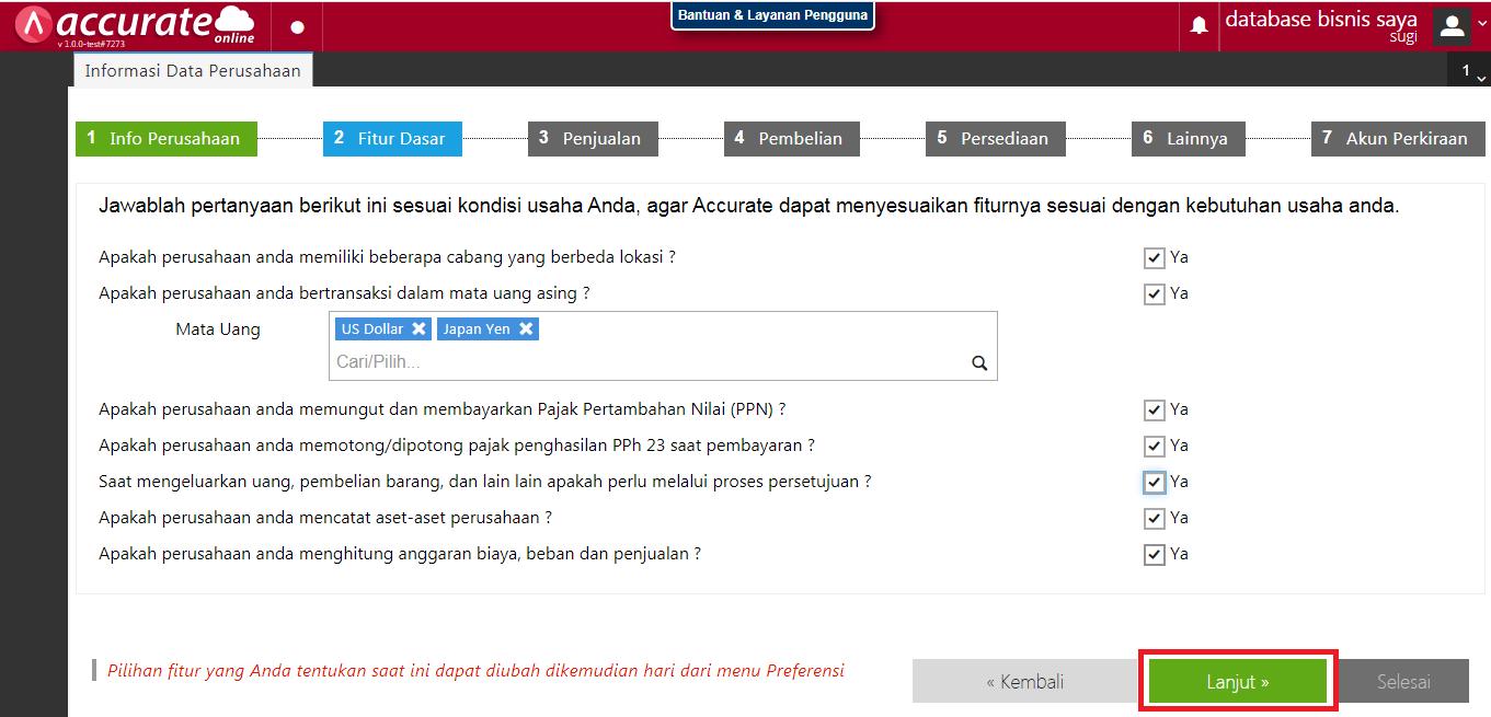 database5 penggunaan accurate online