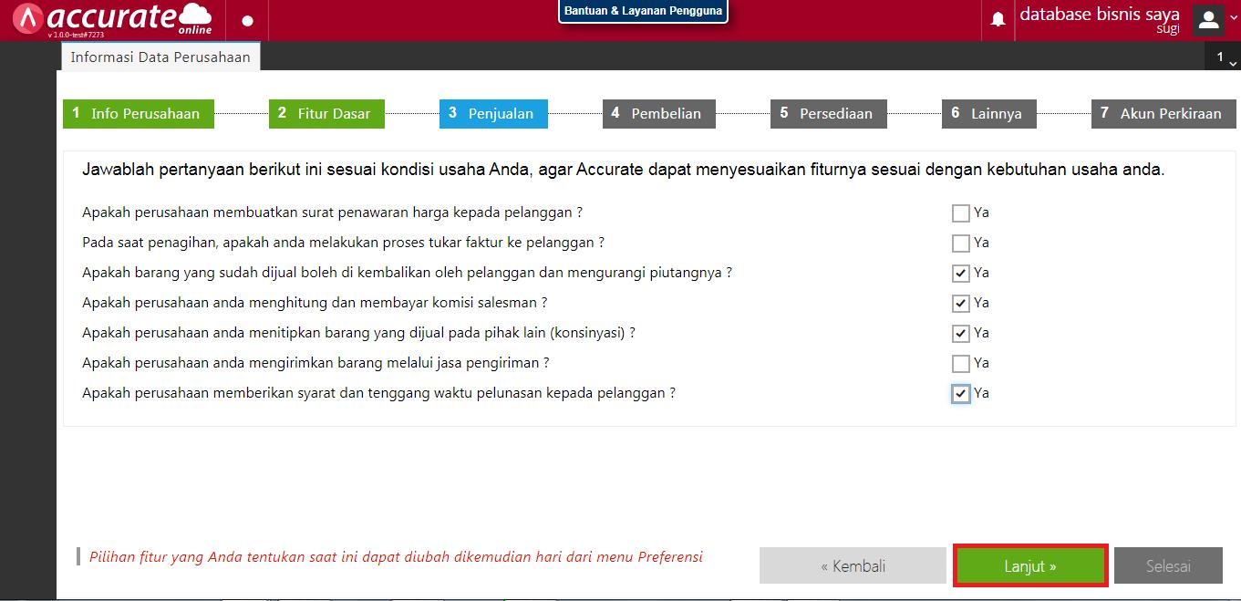 database6 penggunaan accurate online