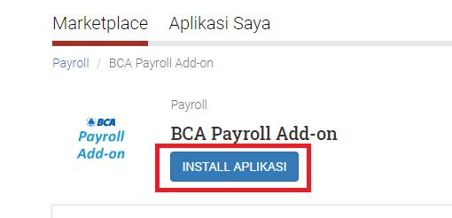 BCA Payroll install
