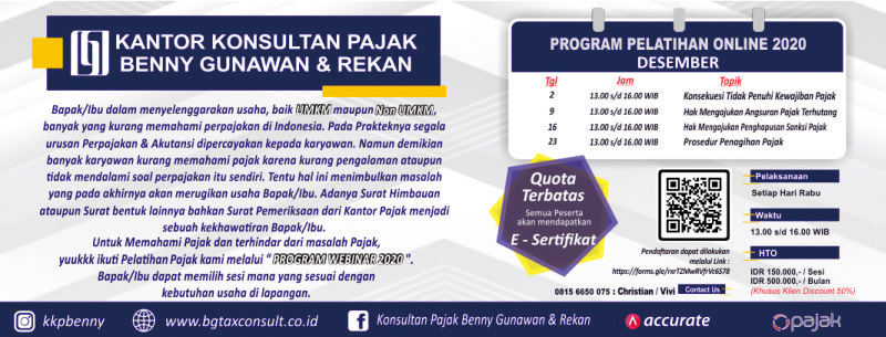 Pelatihan KKP Benny Gunawan Desember 2020
