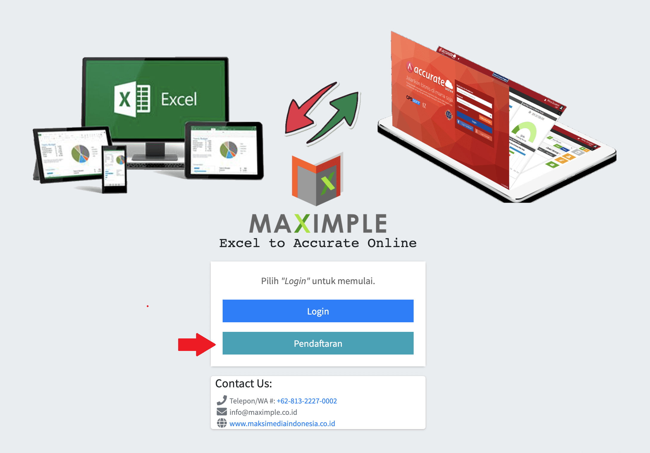 maximple dan Accurate online 1